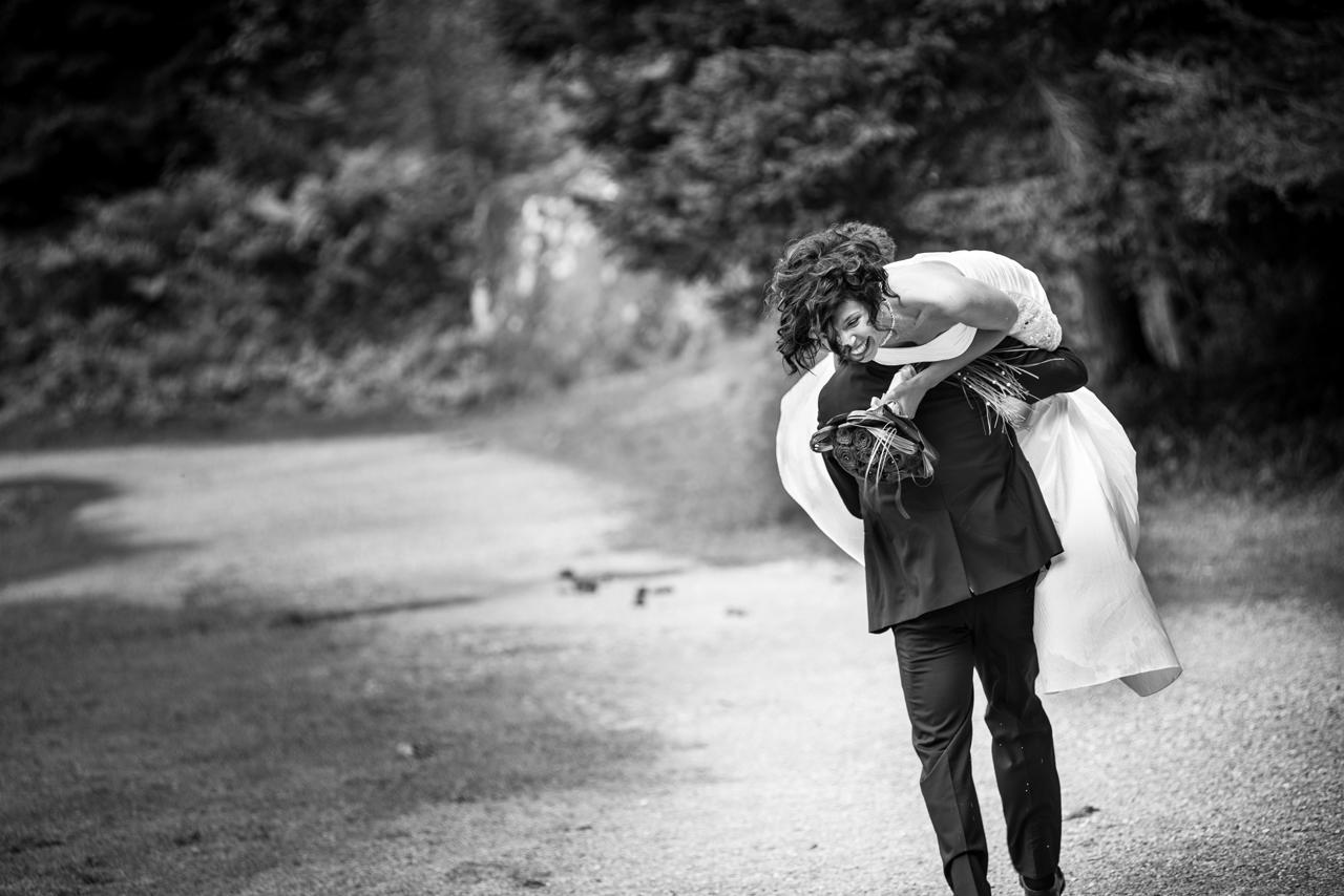 sposi durante matrimonio