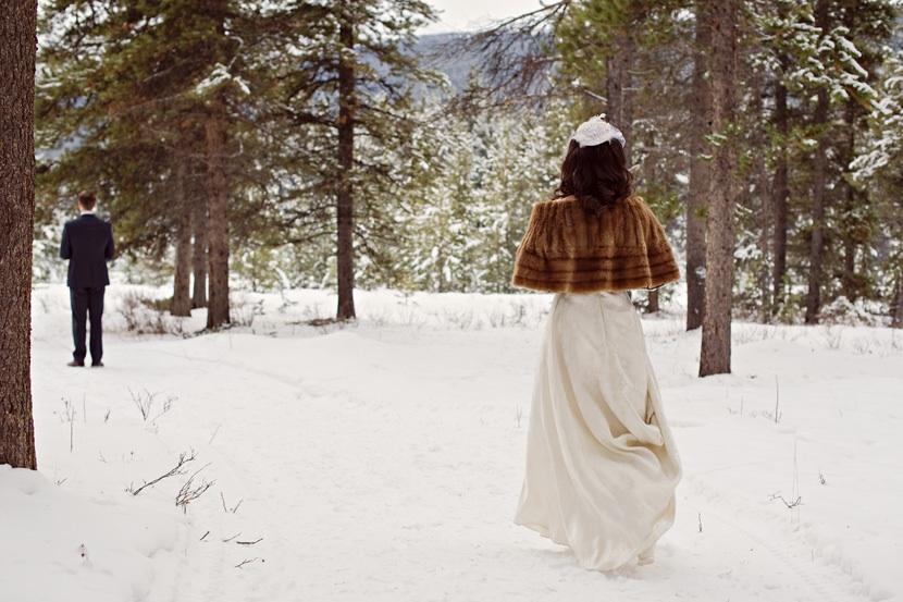 Sposa matrimonio inverno